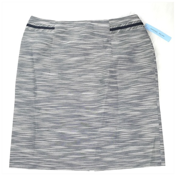 ANTONIO MELANI Dresses & Skirts - Antonio Melani Elba Navy Striped Pencil Skirt NWT